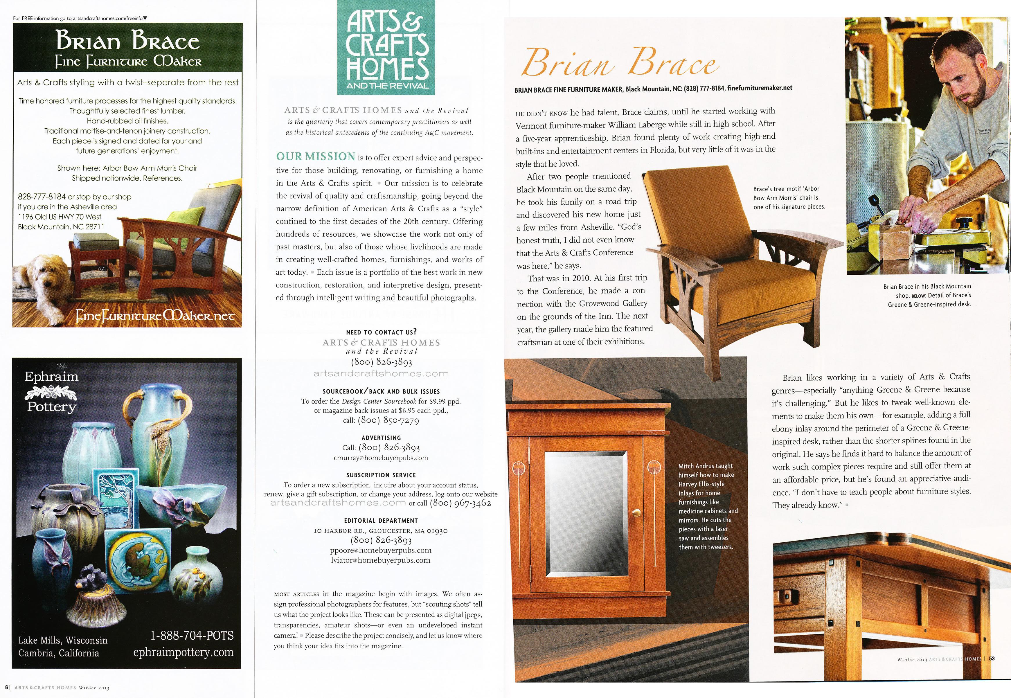 Brian Brace Fine Furniture Maker